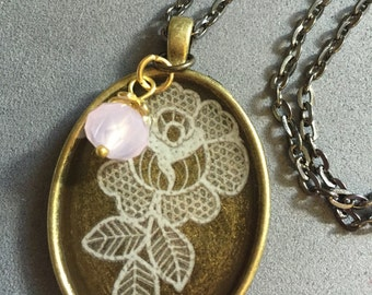 Lace Rose Necklace