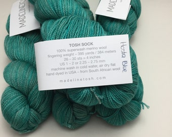 "Madelinetosh Sock ""Hosta Blue"""