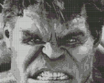 Hulk Cross Stitch Pattern