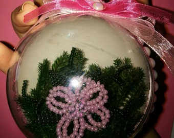 beaded flower ball