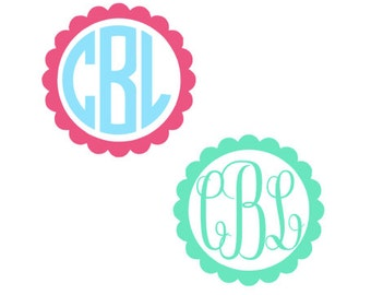 Scallop Circle Monogram