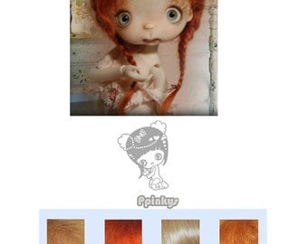 """BJD Mohair wig - Listing is for 1 mohair doll wig sizes 7/8""""-6/7''-5/6''"""