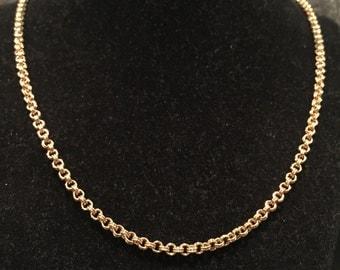 "Trifari Goldtone 58"" double link ""Flapper style"" Necklace - CA 1950's - Item NK130"
