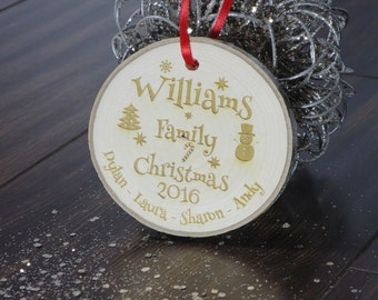 Wood slice ornament, Christmas ornaments, Ornaments, Wood slice, Family Christmas, Personalized ornament, Custom ornaments, Gifts for family