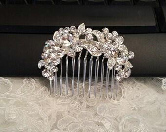 Hair Comb Rhinestone, Bridal Hair Comb, Wedding |Hair Piece