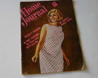 February 1965 Australian Home Journal Magazine with free patterns