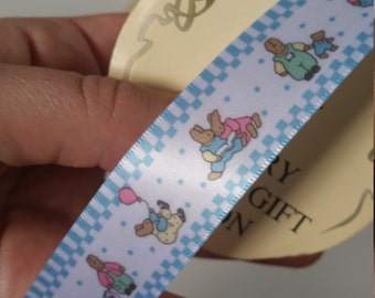 Baby craft and gift Ribbon. 2.5 meter roll 22mm