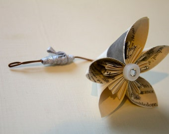 Harry Potter Button Hole/Boutonniere for Grooms & Groomsmen - Handmade