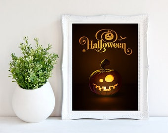 halloween poster pumpkin poster typography poster halloween decoration printable halloween poster halloween wall decor pumpkin print