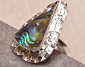 Abalone Ring Size 7