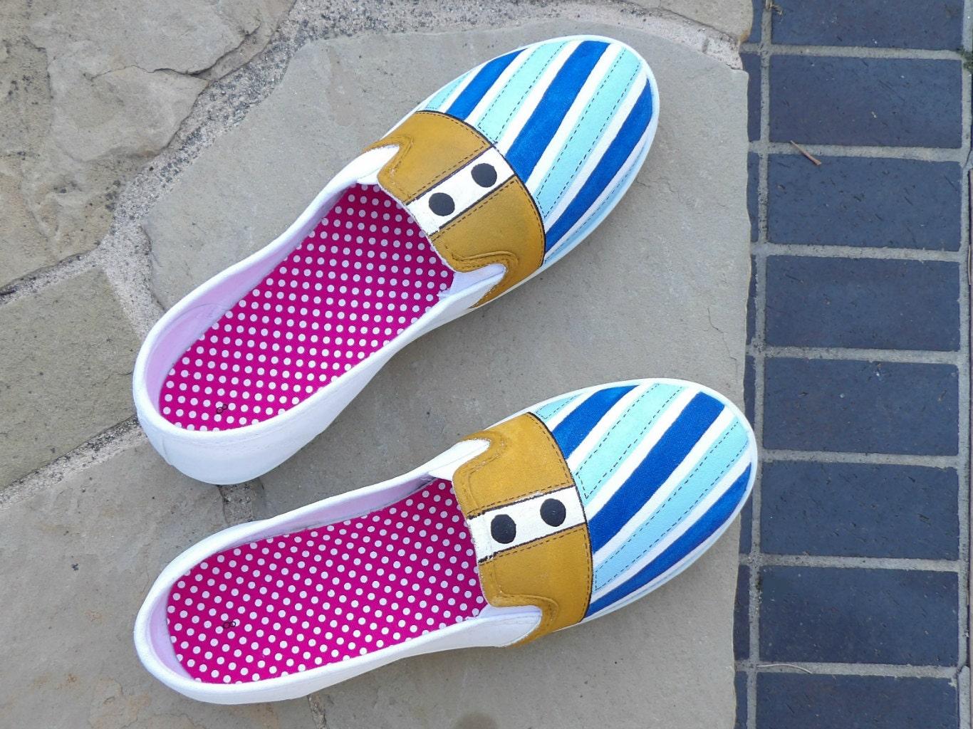 painted design shoes canvas shoes