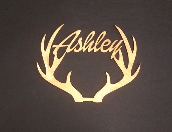 Personalized Deer Antler Tree Topper