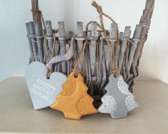 Set of 2 Christmas trees, Christmas tree decor, silver Christmas, tree decor, gold tree, silver tree