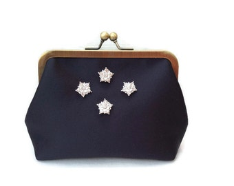 Evening Bag, Clutch Bag, Evening Clutch, Bridal Clutch, Wedding clutch bag, Clutch Purse, Prom clutch, Gifts for her, Midnight Blue Clutch.