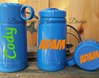 Lunch & Munch Thermos by GoodCook, Boys Lunch Thermos, Blue Thermos, Personalized Thermos, Kids Thermos, Lunch Box Thermos