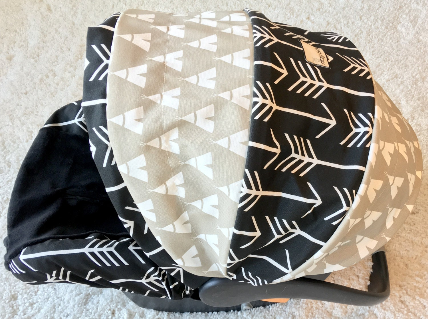 Teepees Amp Arrows Infant Car Seat Cover Baby Boy Car Seat