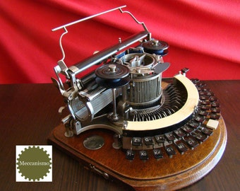 Reserved - Sold: New Video! Superb HAMMOND Nº 2 Ideal typewriter USA 1898