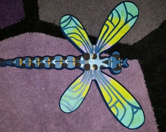 Hand Painted Wooden Dragonfly