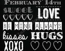 Valentine's Day subway style chalkboard sign **DIGITAL**