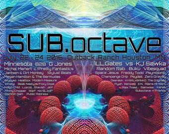 Sub.Octave . Digital Art Print . 2016 (free shipping)