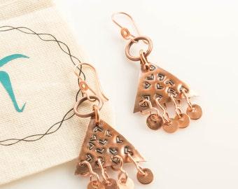 Copper Gypsy Free-Spirited Dangle Earrings