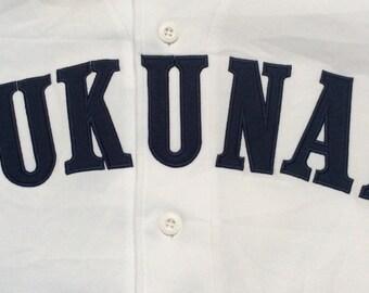 1980s JAPAN FUKUNAN BASEBALL Made in Japan Vintage Jersey
