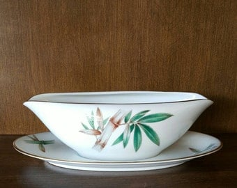 Noritake Canton Gravy Boat with Underplate -Bamboo