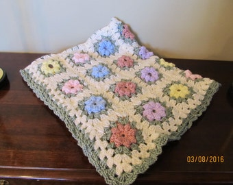 Flower Crochet Baby Blanket - Girl/Boy