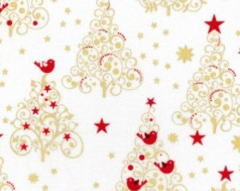 Christmas Trees Traditional design Cotton Fabric