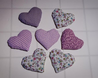 """Lavender Heart Sachet. Handsewn, filled with organic lavender and flax, lovely fragrance, 6"""" x 4"""". Assorted colors"""