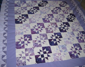 Purple Disappearimg Hourglass Quilt Blanket