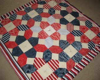 Patriot Theme Quilt (Red, White and blue)