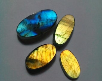 Labradorite Oval Shape Slice's 4 Pcs.