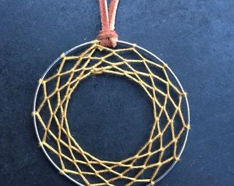 Earthen Yellow Dream-Caster Bangle Necklace