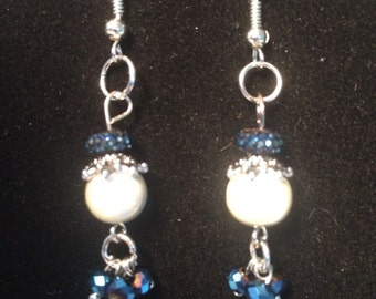 Handmade dangle beaded earrings