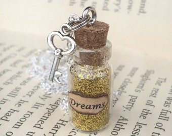 Dreams Bottle Necklace / Pendant / Bookmark / Decoration / Keyring
