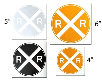 Reflective Railroad Crossing Decal