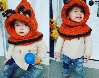 Fox hoodie hat