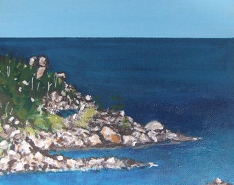 Magnetic Island, blue,Aqua , Acrylic on Canvas ready to hang