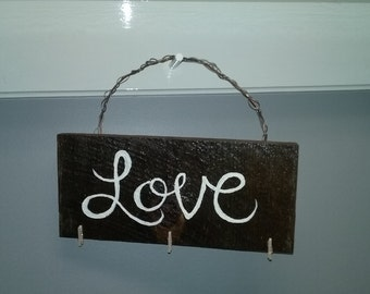 LOVE hanging sign