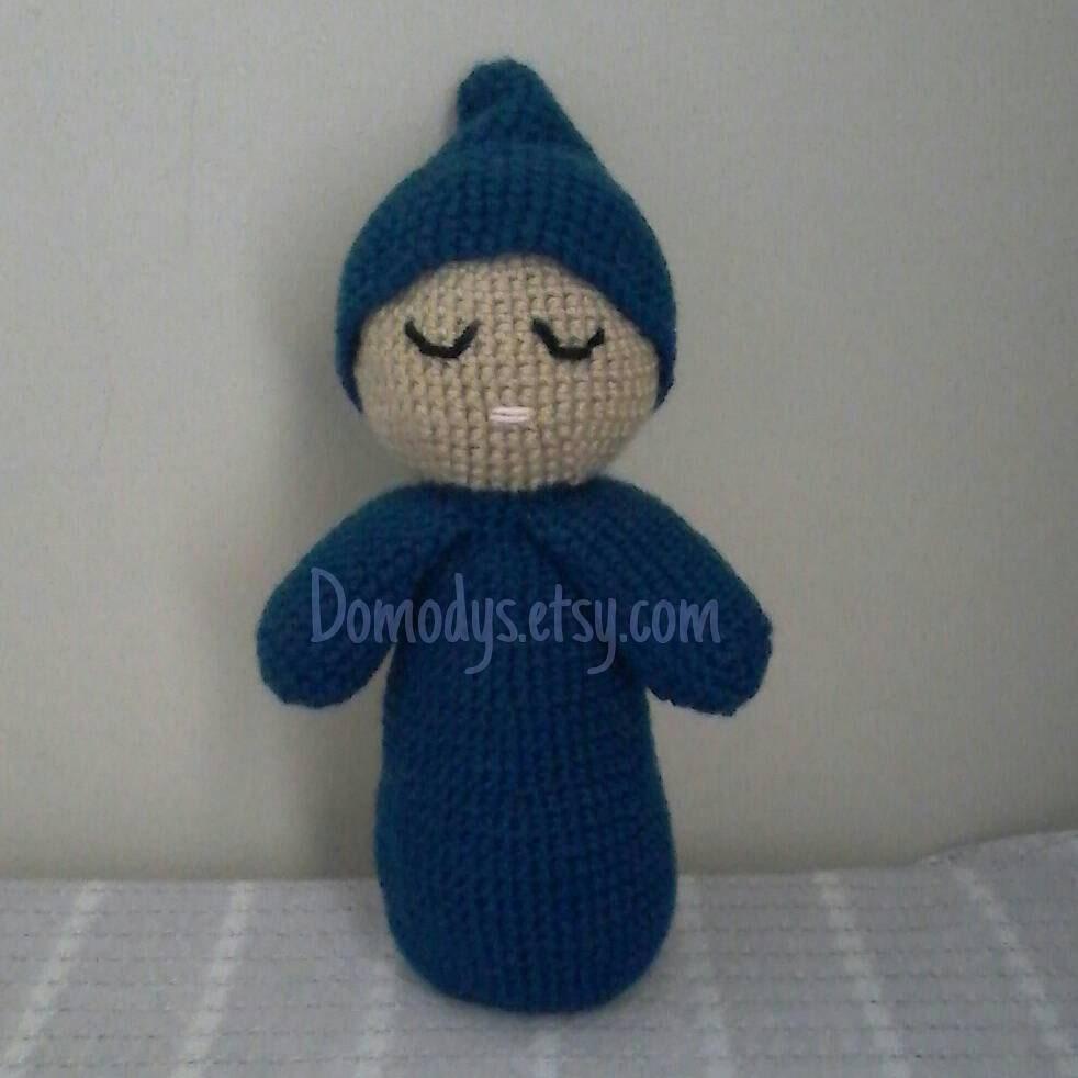 Crochet Amigurumi Doll Head : Sleepy Head Doll First Baby Doll Crochet Sleepy Head Baby