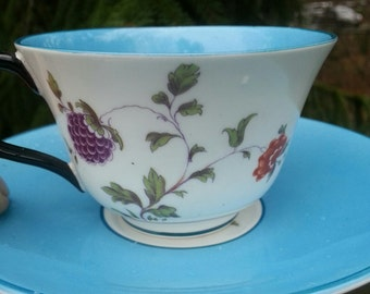 Crown Staffordshire Reg No 592627 Cup and Saucer