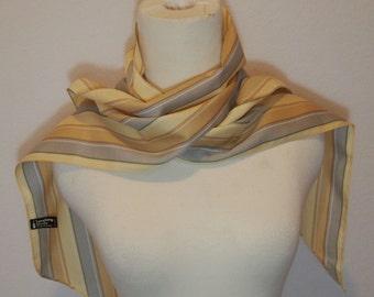 1970s Striped Symphony Scarfs Tie Scarf