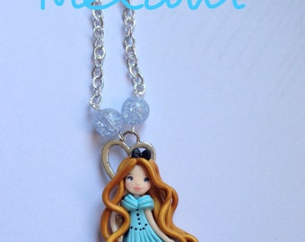 Necklace with pendant with Tim Burton