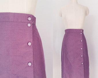 Vintage 80's Lilac pencil skirt