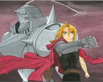 The Elric Brothers! Fullmetal Alchemist Fan Art