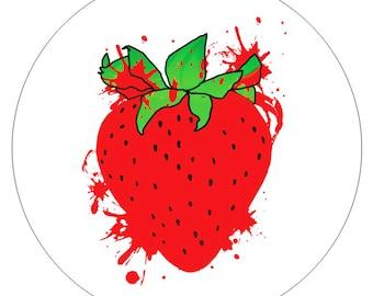 6 Strawberry Stickers