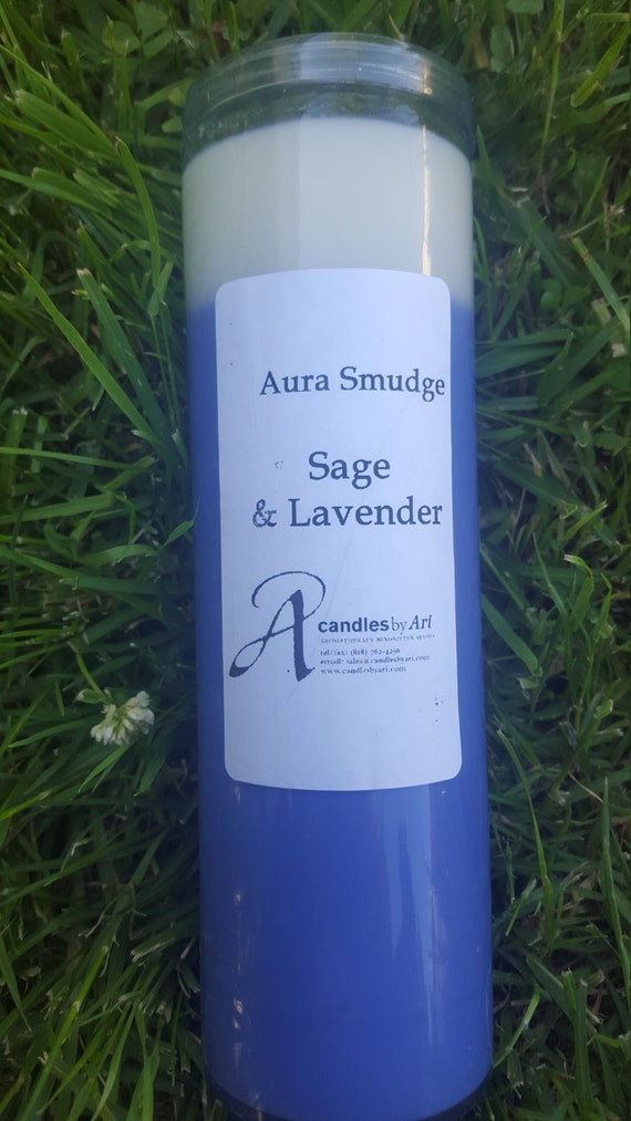 Aura Smudge Sage Amp Lavender Candle Soy By Candlesbyari On Etsy