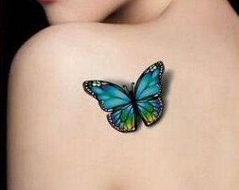 Butterflies #1 - Temporary Tattoos // Body Art // Cool // Tumblr Style // Summer // Party