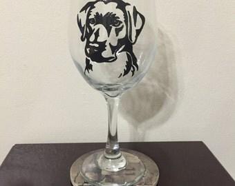 Labrador Wine Glass or Pilsner Glass